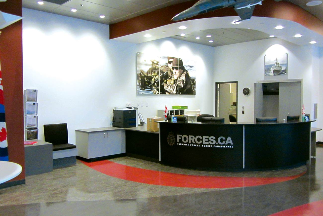 Canadian Armed Forces Recruitment Station and Department of National Defense